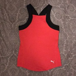 Puma Hot Pink Black Workout Sports Athletic Shirt
